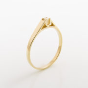 Zásnubní prsten s přírodním diamantem Paris