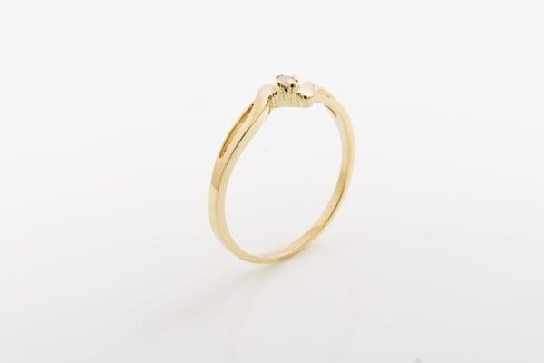 Zásnubní prsten s přírodním diamantem Laguna