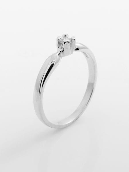Zásnubní prsten s přírodním diamantem Four Seasons – Bílé zlato