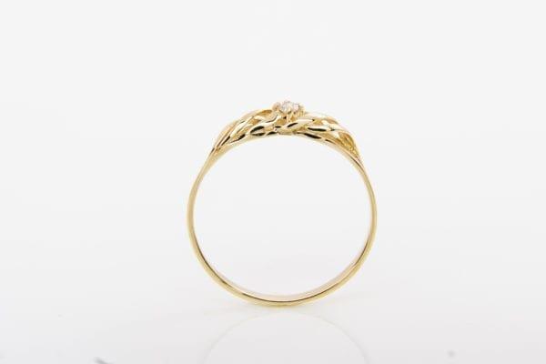 Zásnubní prsten s přírodním diamantem Mare