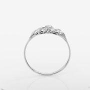 Zásnubní prsten s přírodním diamantem Mare – Bílé zlato