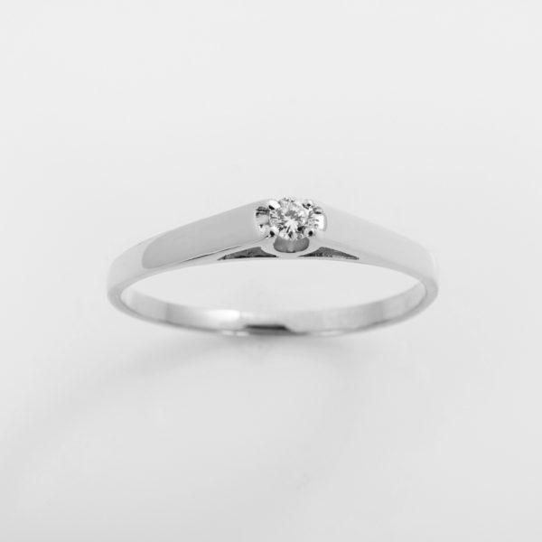 Zásnubní prsten s přírodním diamantem Paris – Bílé zlato