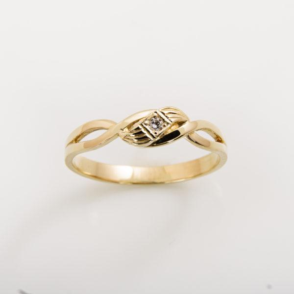 Zásnubní prsten s přírodním diamantem Cleopatra