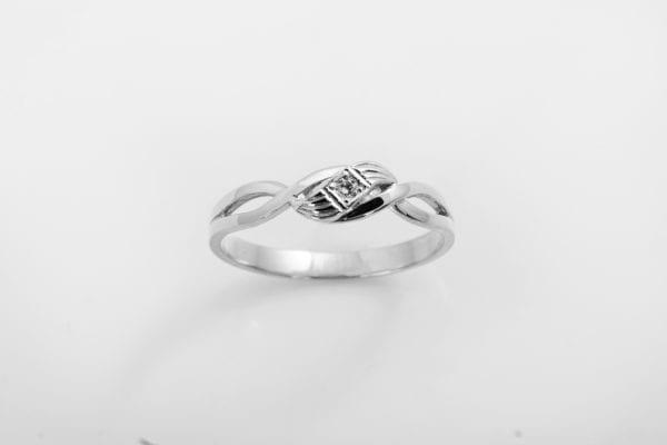 Zásnubní prsten s přírodním diamantem Cleopatra – Bílé zlato